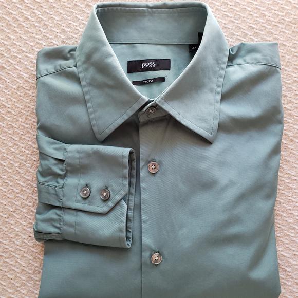 1d91f4f7f Hugo Boss Shirts | Mens Seafoam Green Dress Shirt | Poshmark
